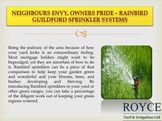 Neighbours Envy, Owners Pride – Rainbird Guildford Sprinkler Systems