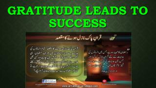 Gratitude leads to Success
