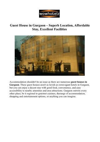 Guest Houses Gurgaon