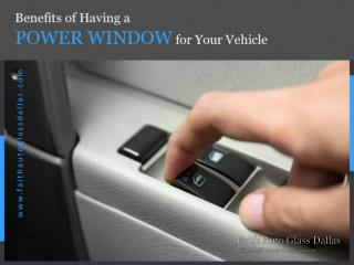 Professional Power Window Repair in Dallas