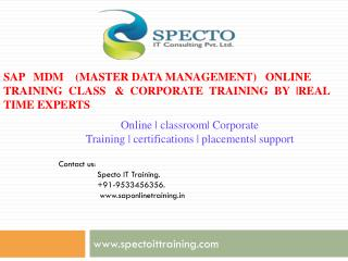 training classes on sap mdm