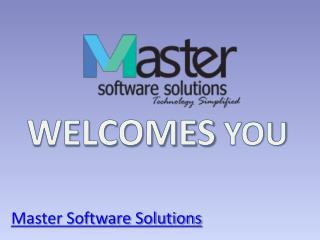 Master Software Solutions - Mobile Application Development