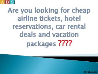 Cheap Airline Tickets to Africa