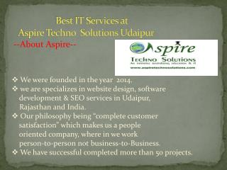 Best web design company Udaipur Rajasthan