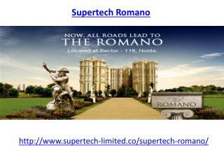 Supertech Romano Sector 118-Supertech Romano Noida