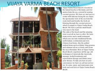 Vijaya Varma Beach Resort