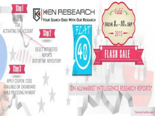 Ken Research is offering flat 40% discount on all market research reports for a flash sale for 3 days