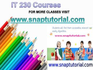 IT 230 courses / snaptutorial