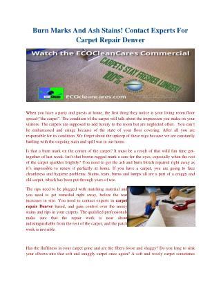 Carpet repair denver
