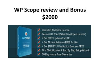 wp scope review and bonus worth over &2000