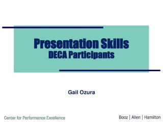 Presentation Skills DECA Participants