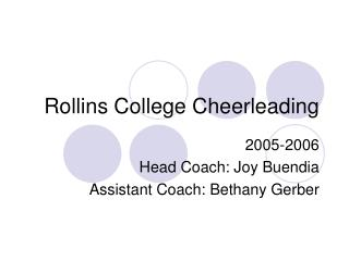 Rollins College Cheerleading