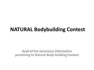 NATURAL Bodybuilding Contest