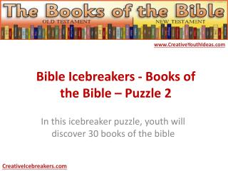 Bible Icebreakers - Books of the Bible – Puzzle 2