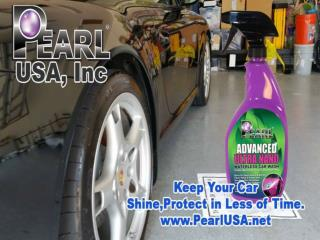 Pearl Waterless Car Care Product Create Maximum Shine in Minimum Time.