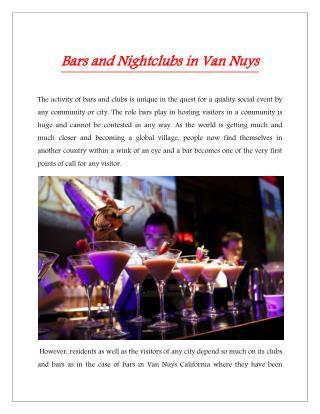 Bars in Van Nuys California