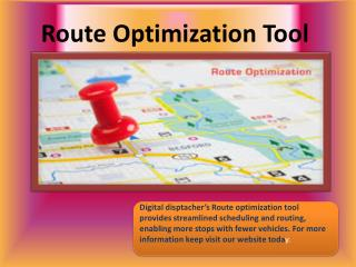 Route Optimization software