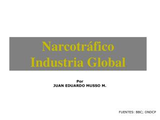 Narcotr fico Industria Global