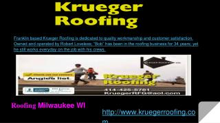 Roofing , Roof Repair, Complete Roof tear offs, Roof Snow Removal, Leak Repairs, Gutters Repairs Milwaukee, New Berlin,