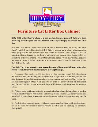 Furniture Cat Litter Box Cabinet