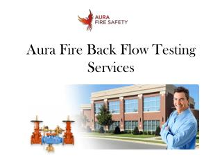 Aura Fire Back Flow Testing Services