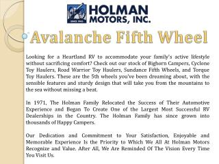 Avalanche Fifth Wheel