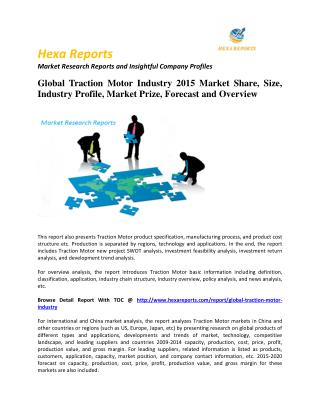 Traction Motor Industry 2015 Market Share, Size, Industry Profile, Market Prize, Forecast and Overview