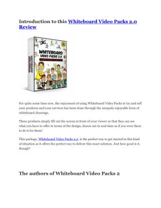 Whiteboard Video Packs 2.0 Review