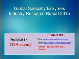 Global Specialty Enzymes Industry 2015 Market Growth, Insights, Shares, Analysis, Research, Development, Trends, Forecas