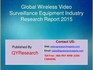 Global Wireless Video Surveillance Equipment Industry 2015 Market Size, Research, Analysis, Applications, Development, G
