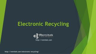 Remitek | FREE EWASTE PICKUP | FREE ELECTRONIC RECYCLING PICKUP