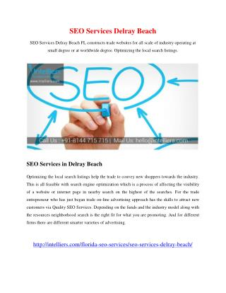 SEO Services Delray Beach