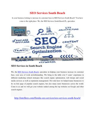 SEO Services South Beach
