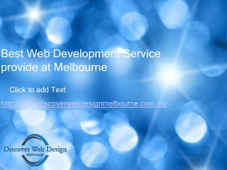 Best Web Development Service provide at Melbourne
