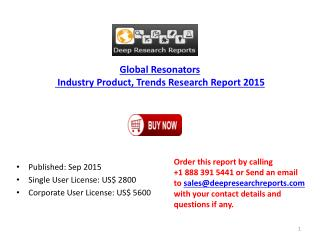 Global Resonators Industry Share, Product, Policy Research 2015