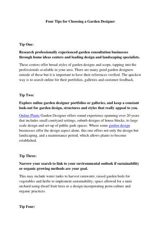 Four Tips for Choosing a Garden Designer - Garden consultation