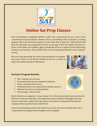 Online Sat Prep Classes