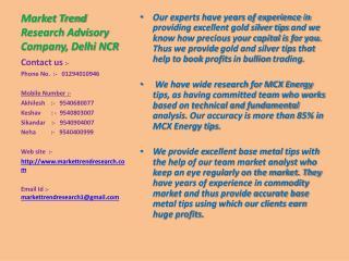 Market Trend Research Advisory Company, Delhi NCR