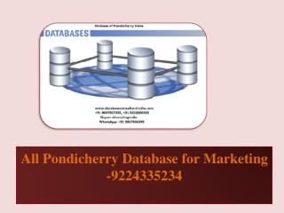 All Pondicherry Database for Marketing -9224335234