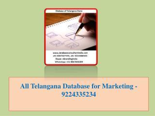 All Telangana Database for Marketing -9224335234