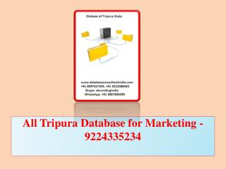 All Tripura Database for Marketing -9224335234