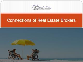 Connections of Real Estate Brokers