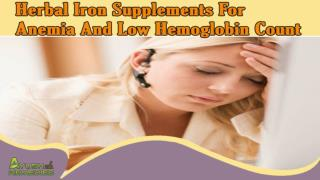 Herbal Iron Supplements For Anemia And Low Hemoglobin Count