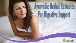 Ayurvedic Herbal Remedies For Digestive Support