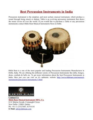 Best Percussion Instruments in India