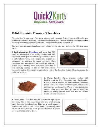 Flavors of Chocolates