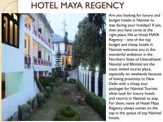 Hotel maya regency