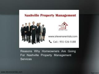 Reasons Why Homeowners Are Going For Nashville Property Management Services