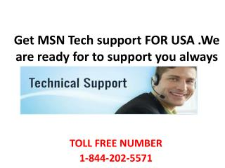 1 844 202 5571 MSN mail Tech Support Number