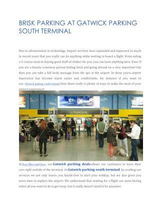 gatwick parking south terminal